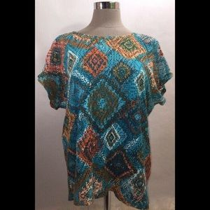 2FER Deal! Ruby Rd. 2-Pc Set Teal Coral Top & Tank
